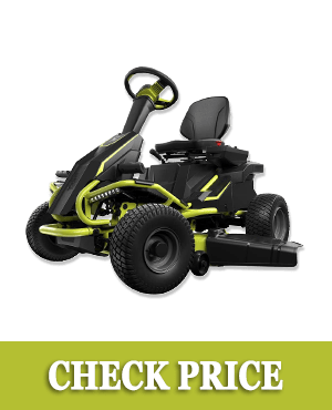 "Ryobi 38"" Battery Electric Rear Engine Riding Lawn Mower RY48110"