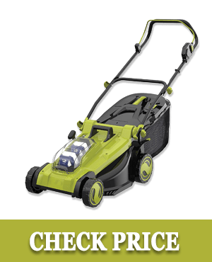 4. Sun Joe Mulching Lawn Mower w/Grass Catcher