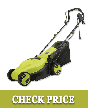 Sun Joe MJ400E Lawn Mower w/ Grass Collection Bag