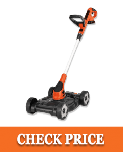 BLACK+DECKER 3-in-1 Lawn Mower, String Trimmer and Edger